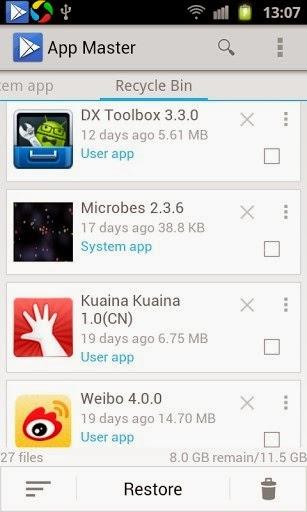 App master (uninstall master)