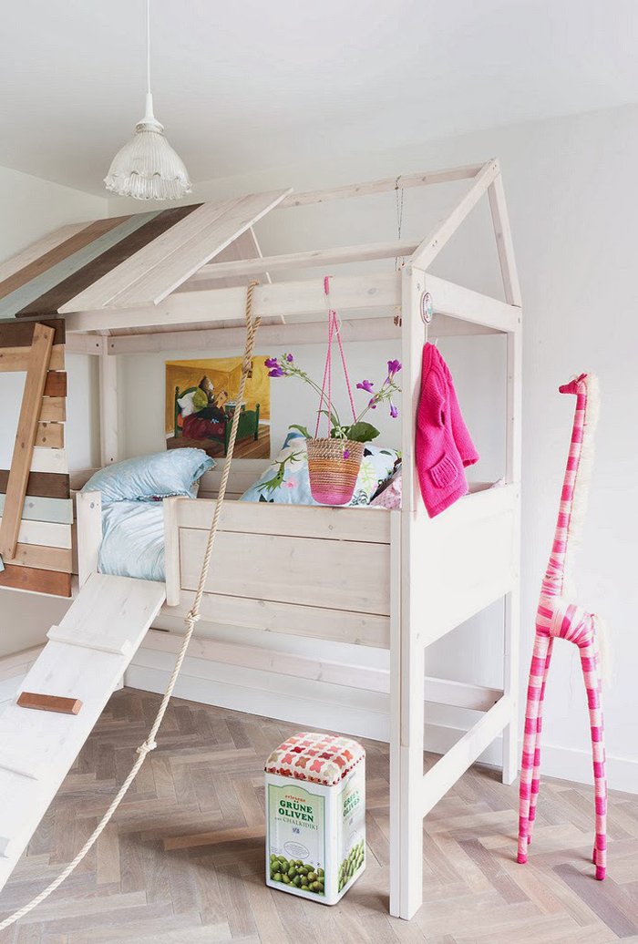 bunk bed in a house shape for a child room