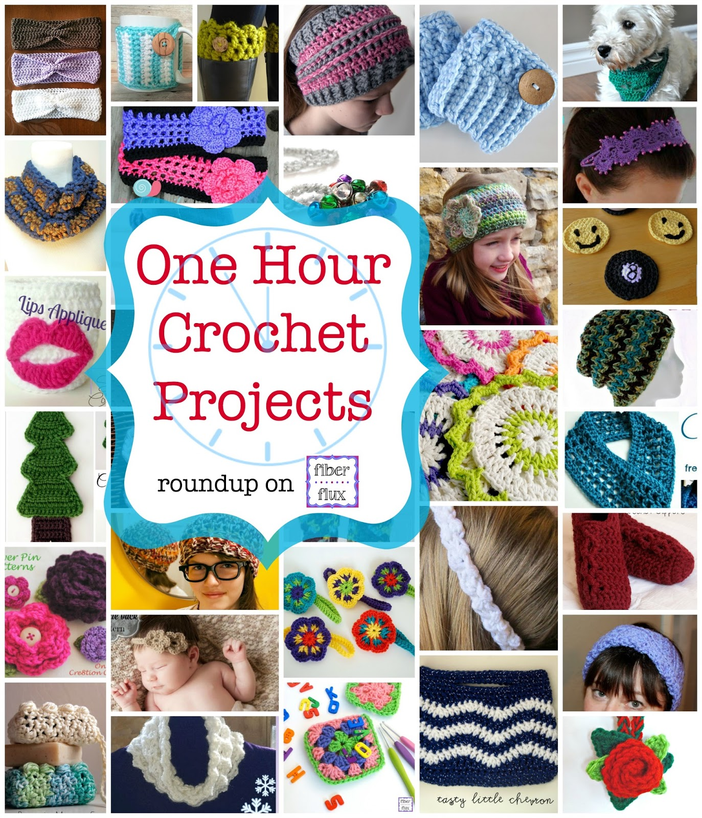 One Hour Kitchen Projects: Fiber Flux: Tick Tock! 35 One Hour Crochet Projects