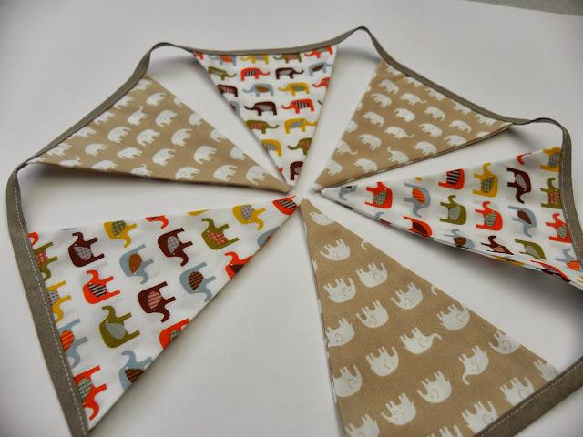 Elephant Fabric Bunting