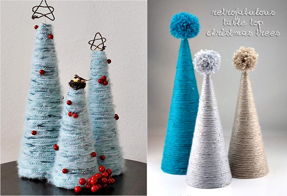 fluffy christmas tree baubles