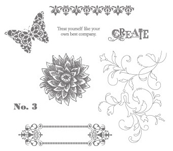 Creative Elements Rubber Stamp Set by Stampin' Up!
