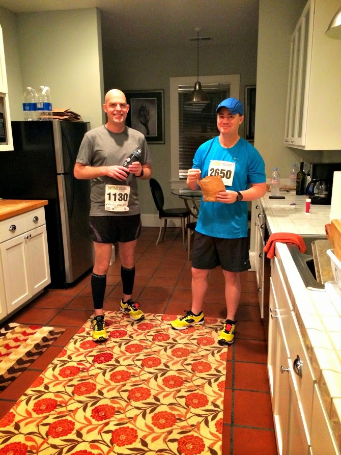 The Holland House: Hank and Keith on race morning