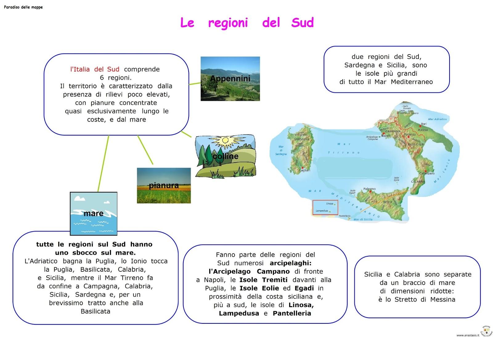 Paradiso delle mappe le regioni del sud for Interno delle piantagioni del sud