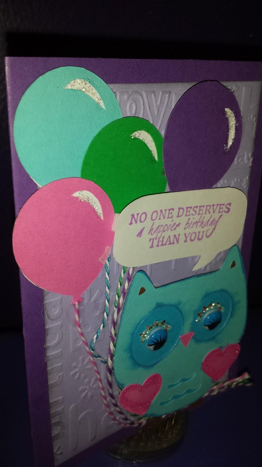 Melody Lane Designs Owl Birthday Card – Tacky Birthday Cards