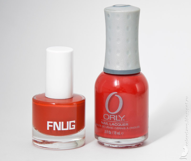 Fnug Hot Pants vs Orly Poison Apple