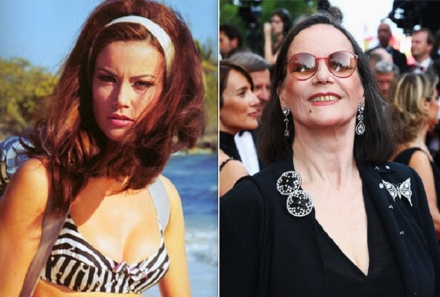 Claudine Auger young and old pictures