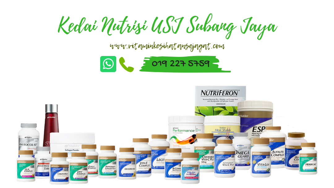 Pengedar Shaklee Subang Jaya | Kedai Nutrisi USJ Subang Jaya