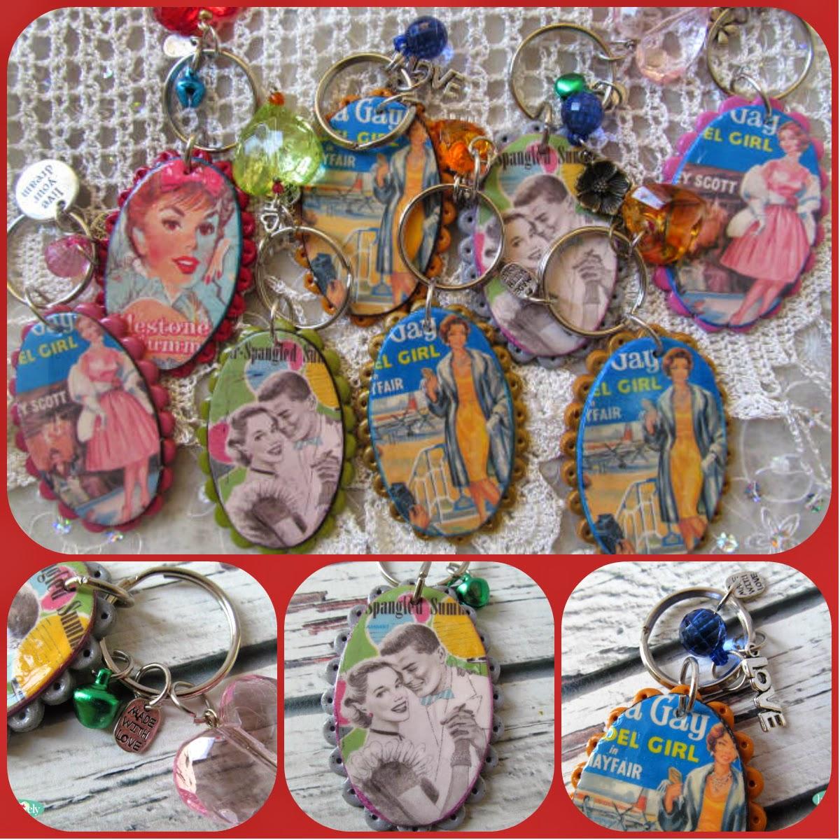 חימר פולימרי, מחזיקי מפתחות,פימו, ניירות העברה, הילה בושרי,hillovely,