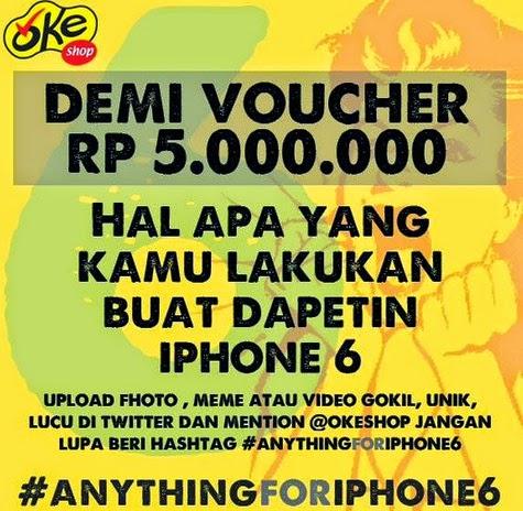 Kontes voucher Rp 5 juta untuk beli iPhone 6