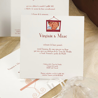 Carte mariage invitation