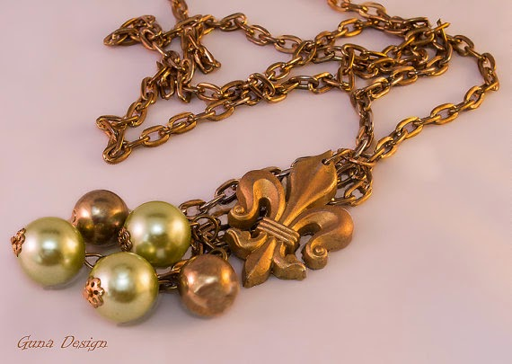 gunadesign guna andersone The Fleur-de-Lis French Lily necklace