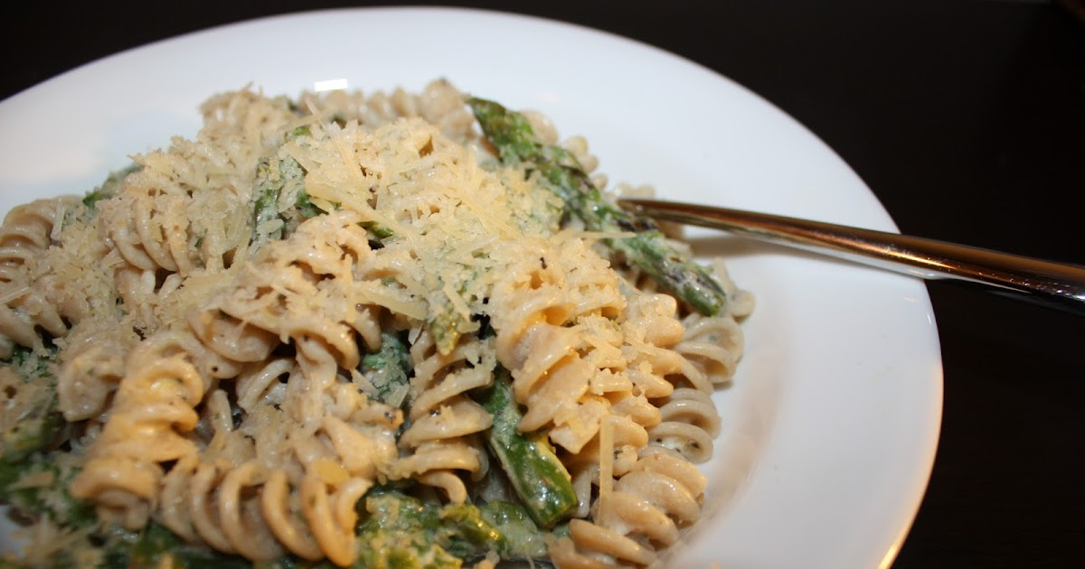 Asparagus Goat Cheese and Lemon Pasta - Becky's Recipes ...