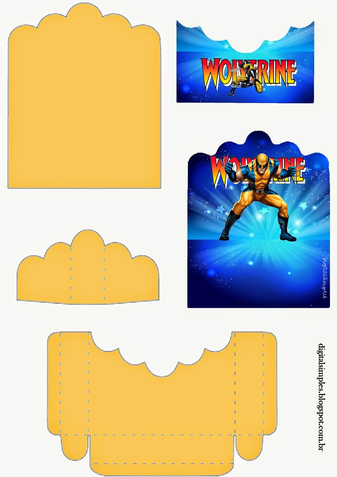 Wolverine: Free Printable Candy Package Support.