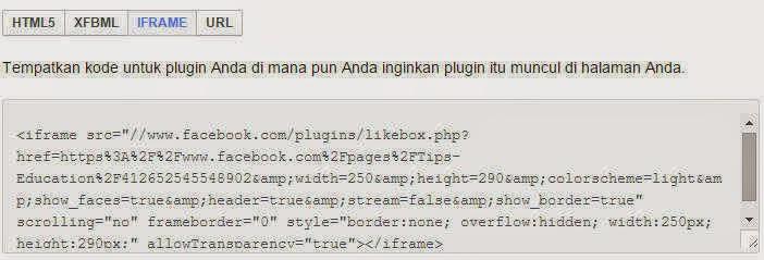 cara pasang fanspage