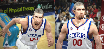 NBA 2K13 Spencer Hawes Face NBA2K Patch