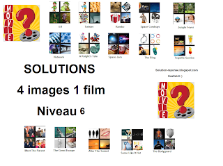 Solution 4 images 1 film niveau 6