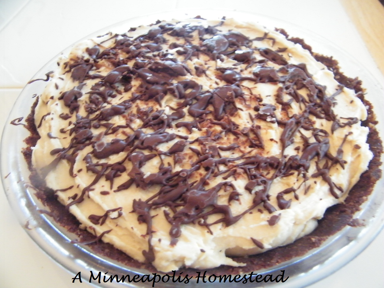 ... Minneapolis Homestead: No Bake Healthy White Chocolate Pie (Low Sugar