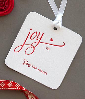 calligraphy Gift tags wedding