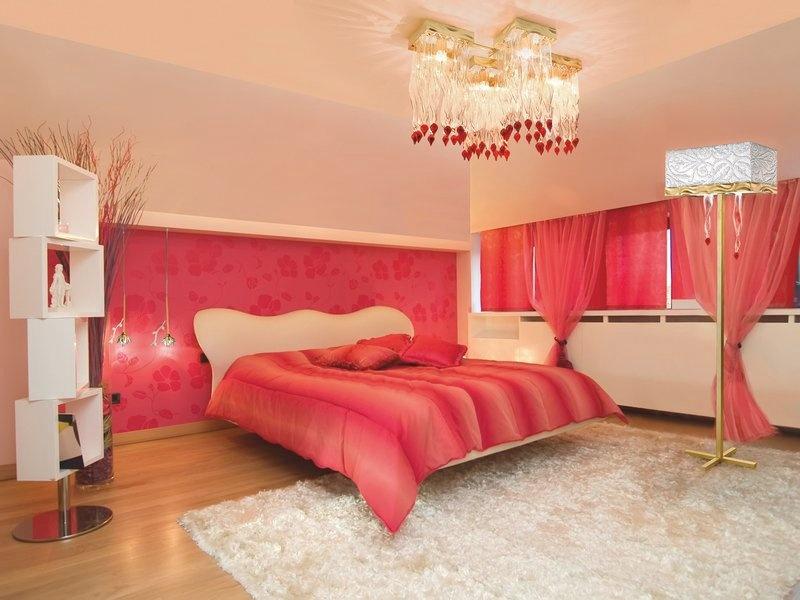 Modas E Decorações Decoração de casa e Design de  ~ Quarto Romantico Vermelho