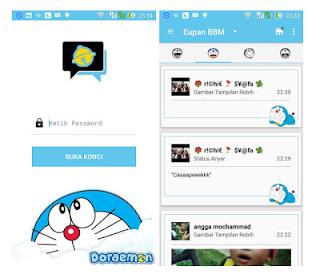 BBM Modif Doraemon 2.11.0.16 Apk Clone