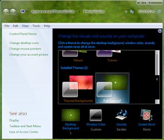 Windows 7 Glass theme preview