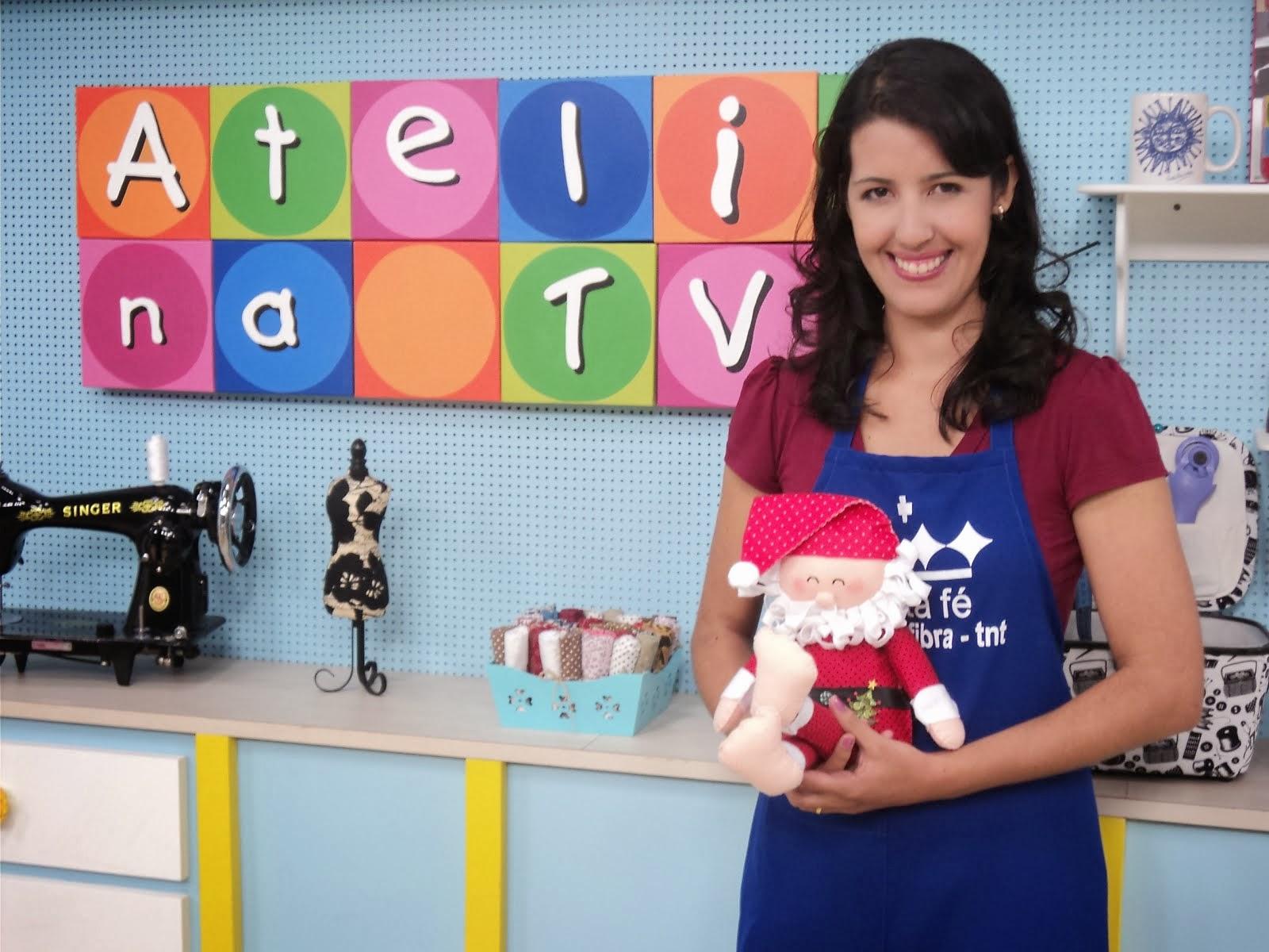 CARLA ARTEIRA NO ATELIÊ NA TV 2013