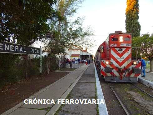 Viajando en el tren de pasajeros Realicó - General Pico (Provincia de La Pampa)