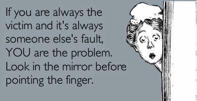 Somebody else's fault
