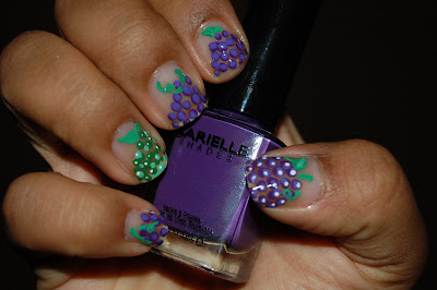 barielle grape escape, grape nails