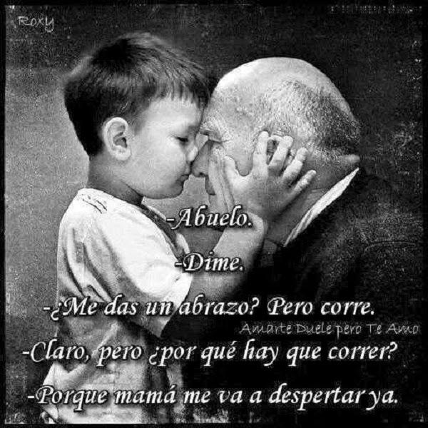 Abrazo de mi abuelo