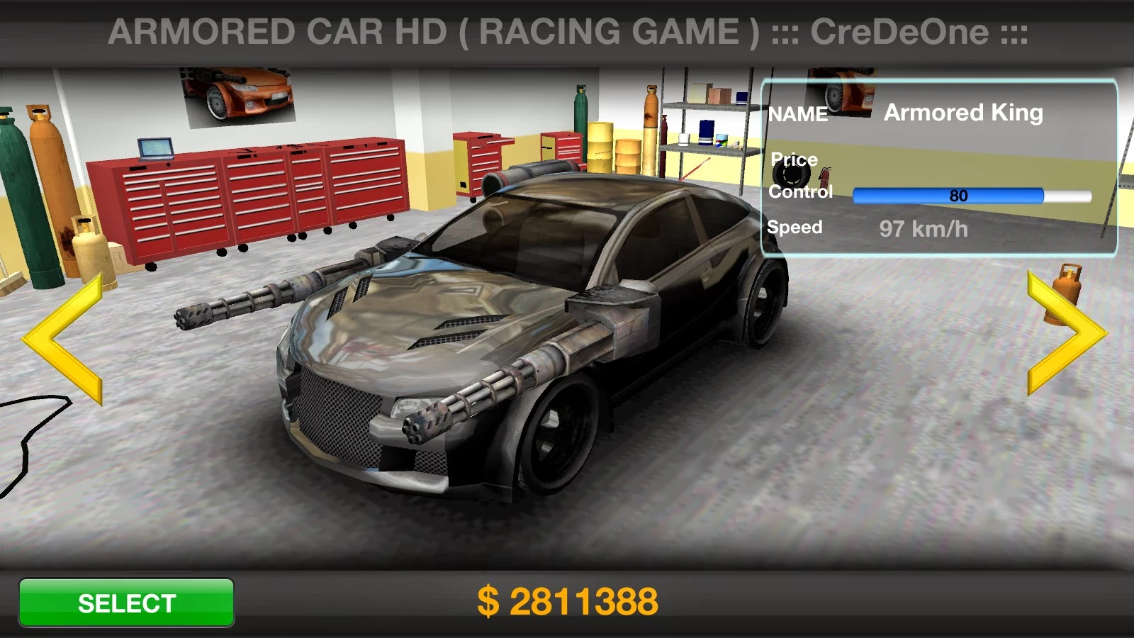 Screenshot Game Armored Car HD