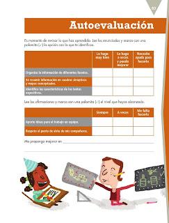 Apoyo Primaria Español 5to grado Bloque III lección 7 Organizar información en textos expositivos