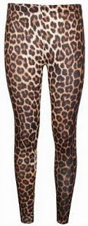 80s Style Leopard Print Leggings