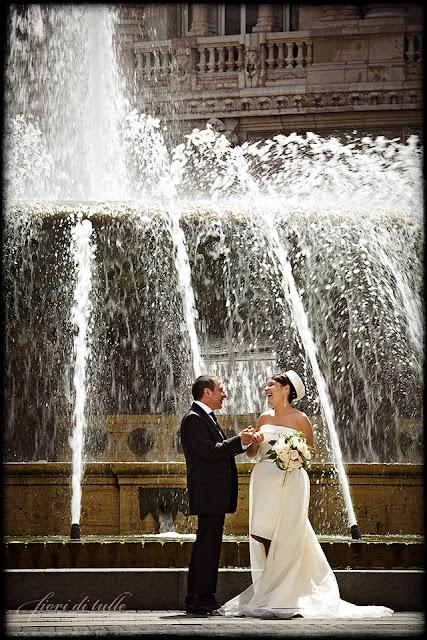 foto matrimonio Genova Piazza de Ferrari