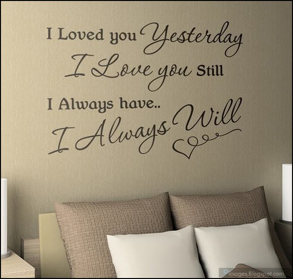 Love Quotes For Wall Art : Quote love wall heart art room