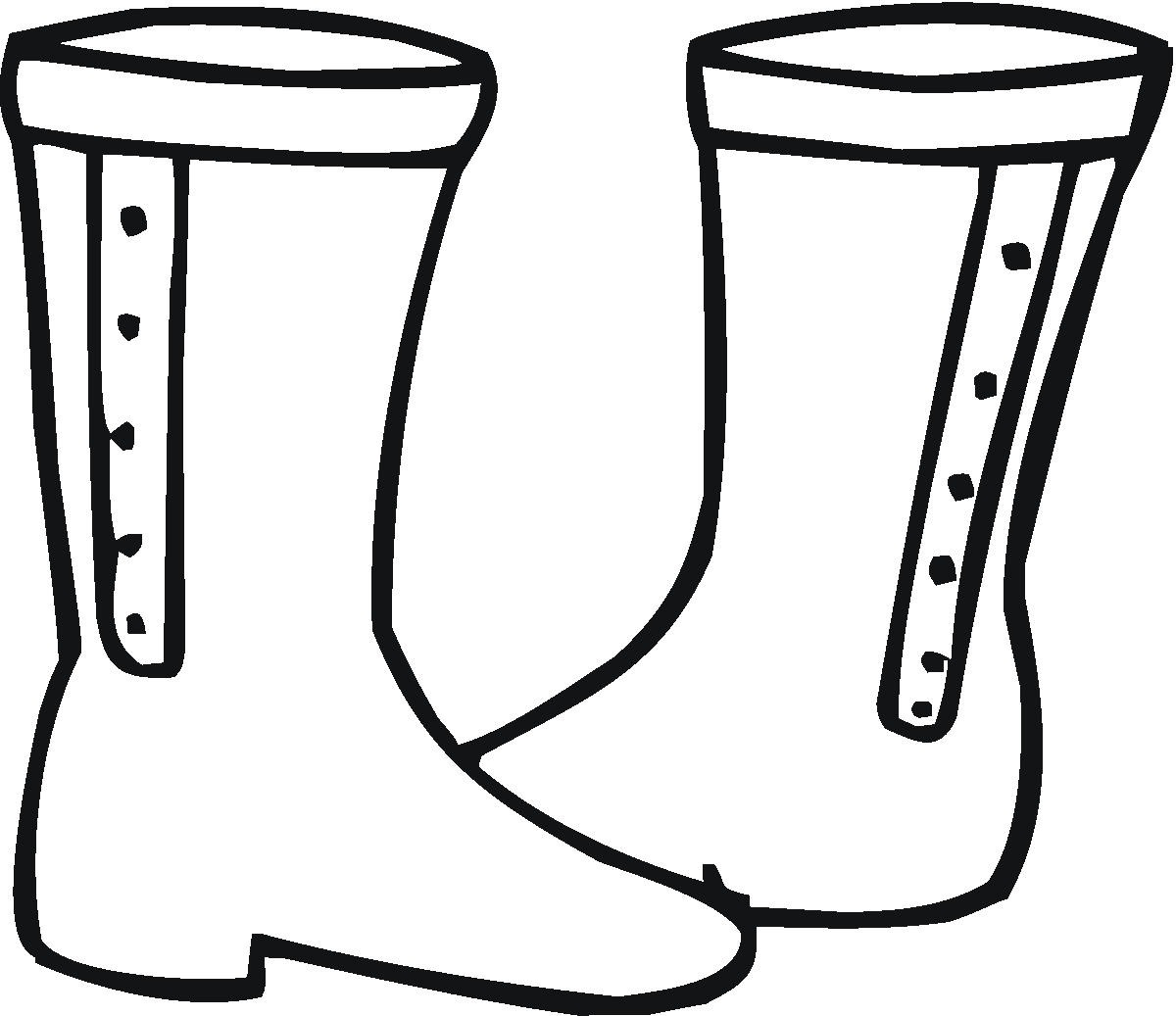 boots fashion pic boots coloring pages