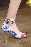 Високи обувки на цветя с метален ток и муцунка от Peter Som
