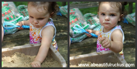 sand and water table sensory activities