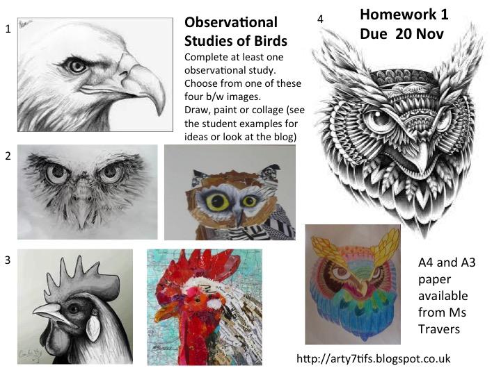 art homework ideas