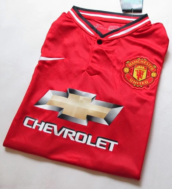 Jersey GO Thailand Player Issue PI Manchester United Home Official 2014 - 2015 CHEVROLE