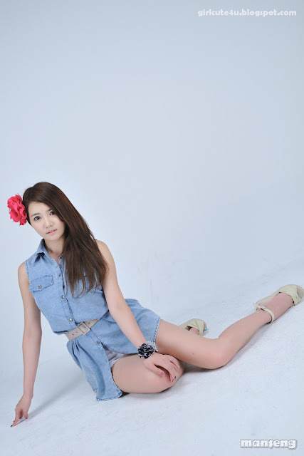 6 Han-Ga-Eun-Denim-Shirt-01-very cute asian girl-girlcute4u.blogspot.com
