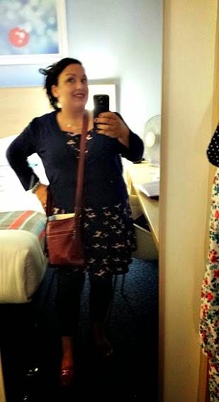 ASOS New Look Hummingbird Print Navy Pink Skater Dress Navy Cardigan Mia Tui Lottie Claret Bag