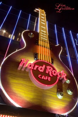 Las Vegas Nevada, Hard Rock Cafe neon guitar Las Vegas strip, New Braunfels photographer