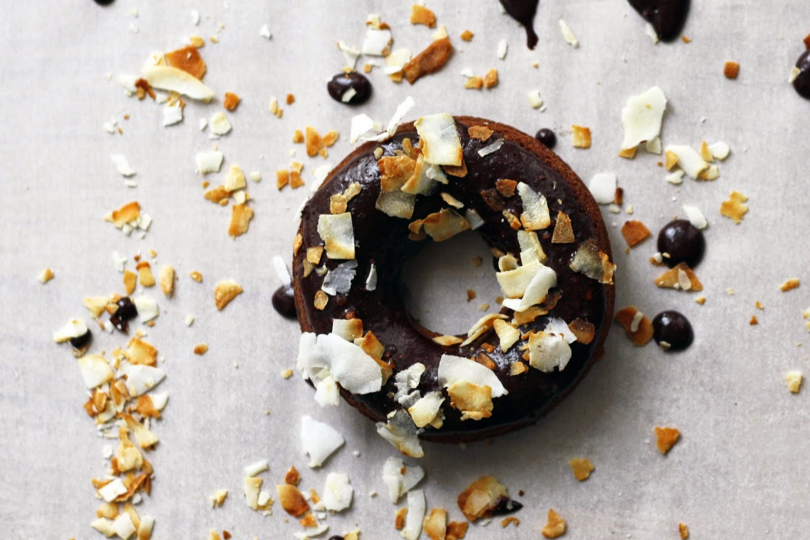 Chocolate Donuts with Toasted Coconut // sevengrams