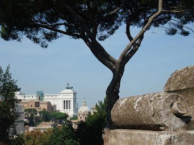 roman ruins hill, rome italy