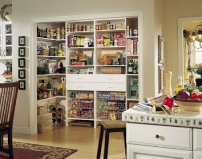 classic kitchen with pantry