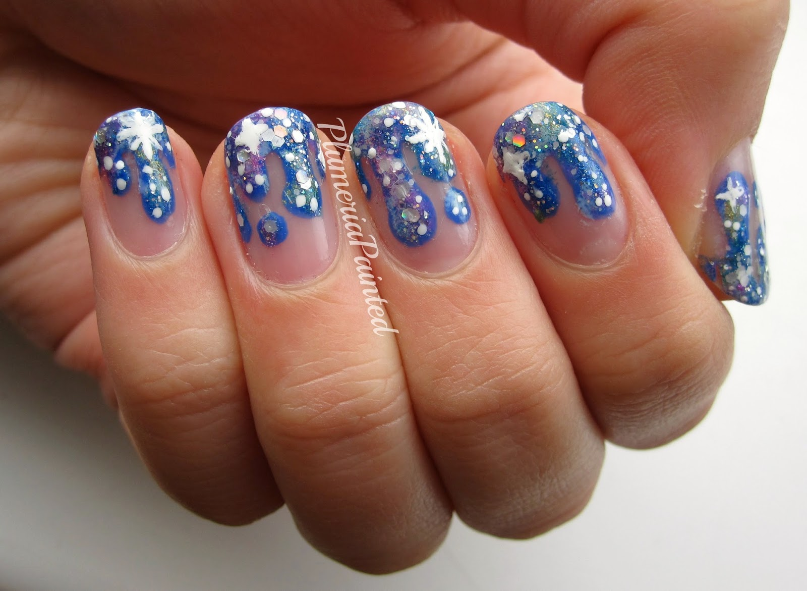 PlumeriaPainted: Dripping Galaxy Nail Art