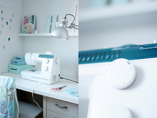 Sewing+Table+and+Sewing+Machine Craft Room and Fabric Storage Inspiration from Hoytrykk