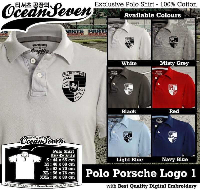 Kaos Polo Porsche Logo 1